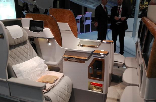 Le design des nouveaux sièges de la Classe Affaires d'Emirates s'inspire de l'intérieur d'une voiture de sport moderne - Photo : P.C.