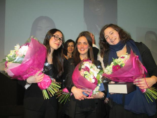 """Les lauréates du Trophées 2016 de l'association Femmes du Tourisme sur le thème """"Le pied à l'étrier"""". De gauche à droite, Maï Pham-Quang, Albertine Soulié et Lisa Taurines. Photo MS."""