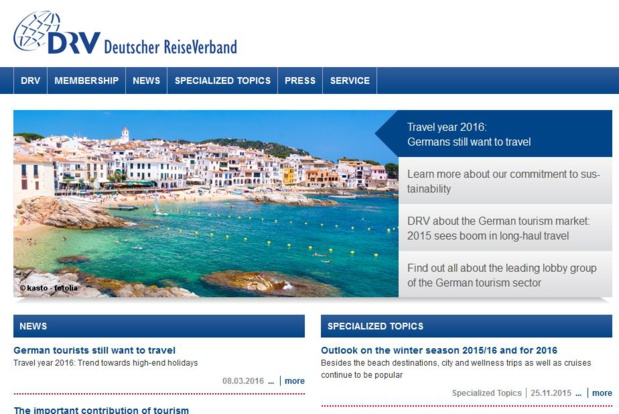Le syndicat DRV, qui regrouper 400 professionnels du tourisme allemand, estime que le marché des professionnels du tourisme est en croissance. DR-DRV