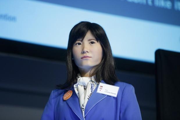Chihira Kanae le robot humanoïde de Toshiba présenté au salon ITB de Berlin - DR ITB Berlin