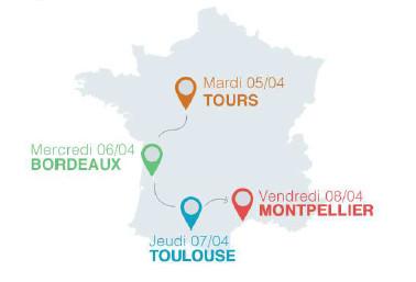 Les 4 étapes du roadshow du CRT des Îles de Guadeloupe - DR : CRT des Îles de Guadeloupe