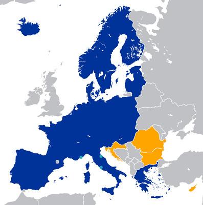 Le visa permet aux voyageurs de se déplacer librement au sein de l'Espace Schengen - DR : Wikipedia