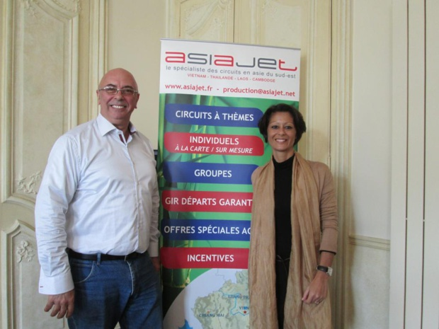 Michel Calvet directeur général du réceptif Asiajet et Nathalie Delevaux directrice des opérations. Photo MS.