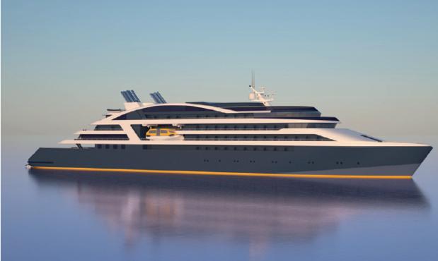"""Les nouveaux navires de Ponant conserveront des dimensions """"humaines"""" - DR : Ponant"""
