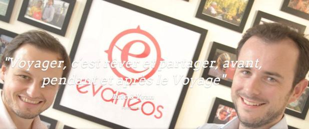 Eric La Bonnardière et Yvan Wibaux, les deux co-fondateurs d'Evaneos. DR Evaneos.
