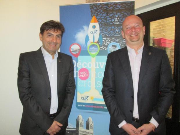 Georges Azouze, président  et Cédric Rivoire-Perrochet, directeur général de CLIA France - Photo M.S.