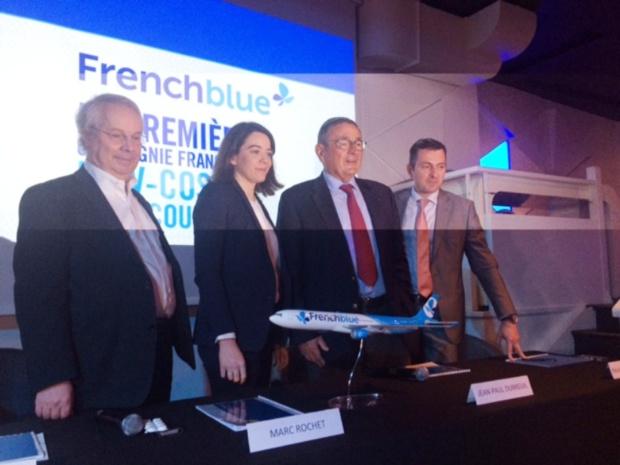 Le groupe Dubreuil lors de la présentation de French Blue. DR-DG