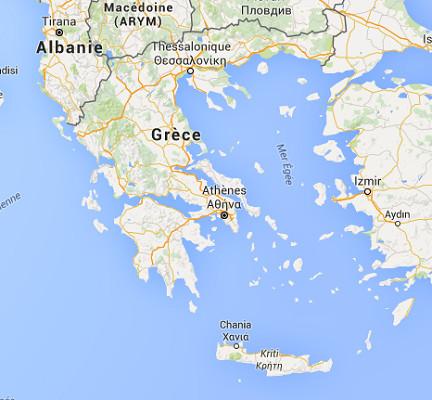 Les niveaux de réservation pour 2016 sont bons en Grèce - DR : Google Maps