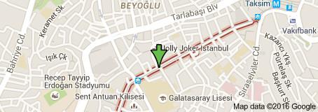 L'attentat-suicide a fait 4 morts dans la rue piétonne Istiklal, à Istanbul - DR : Google Maps