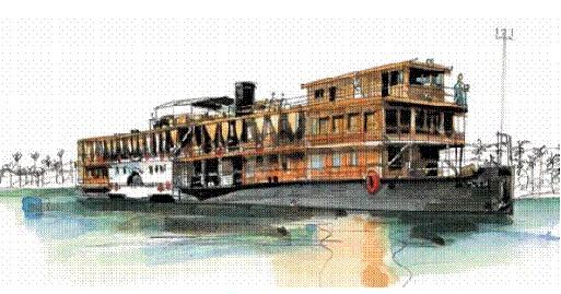 VDM a complètement rénové le bateau SS Sudan (croisières sur le Nil).