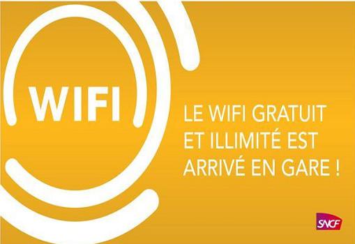SNCf : WiFi gratuit et illimité dans plus de 120 gares en France