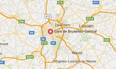 La gare de Bruxelles-Central vient d'être évacuée - DR : Google Maps
