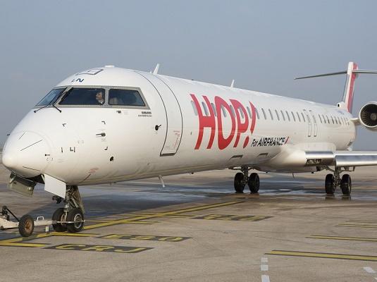 Hop ! fait le bilan de ses activités à Caen pendant l'année 2015 - Photo : Hop ! Air France