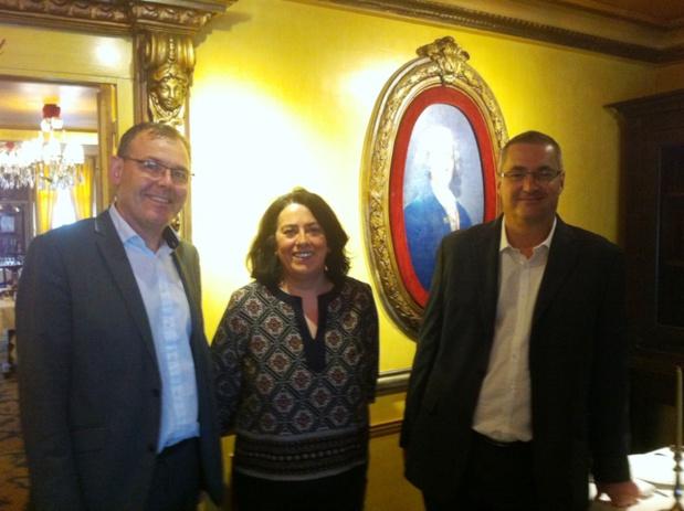 Thierry Houalard, le directeur général de Nationaltours, Christine Le Bot, directrice marketing, Frédéric Marchand, directeur groupes de Nationaltours. DR-LAC