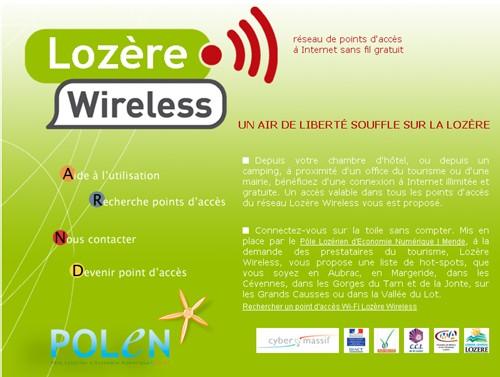 Lozère-Wireless s'étend à tout le Massif-Central