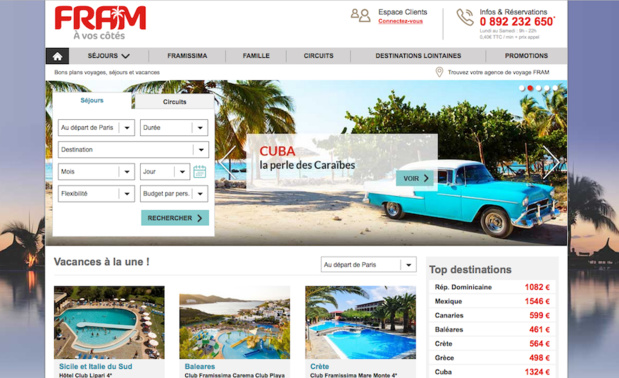 Le nouveau site FRAM en phase test (c) Capture d'écran fram.fr