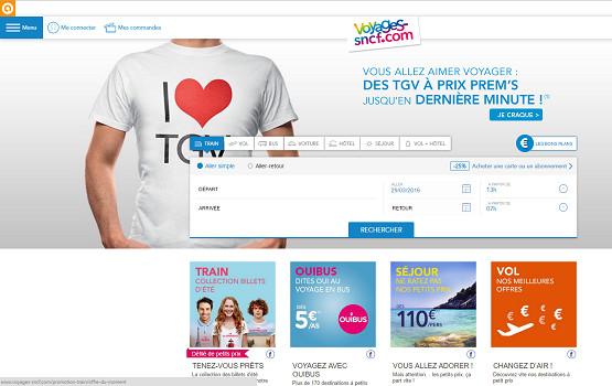 Voyages-Sncf.com va ouvrir les ventes pour l'été 2016 - Capture d'écran