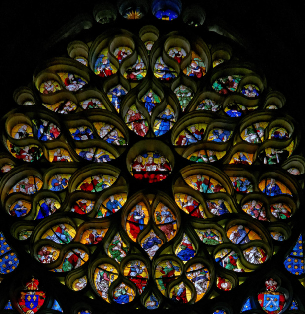 The occidental rose of the Troyes Cathedral (photo: Denis Krieger)