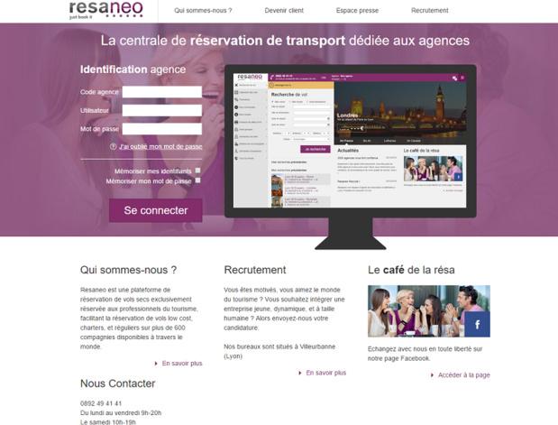 L'offre de Resaneo va s'enrichir avec le référencement des tarifs SNCF dès le 16 avril 2016 - Capture d'écran