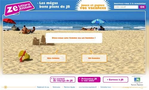 Zelittoralattitude.fr : le CRT Aquitaine joue la carte du ''Buzz''