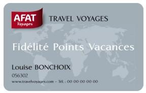 Fidélité : Afat Voyages lance sa Carte Points Vacances