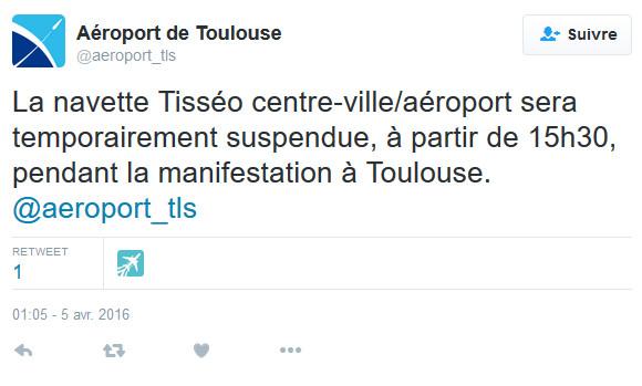 Toulouse : les taxis toujours mobilisés bloquent les entrées à l'aéroport