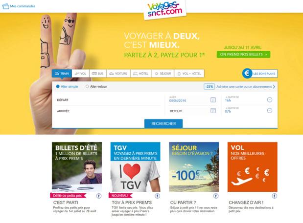 Voyages-sncf.com cherche à poursuivre sa progression sur le marché européen - Capture d'écran