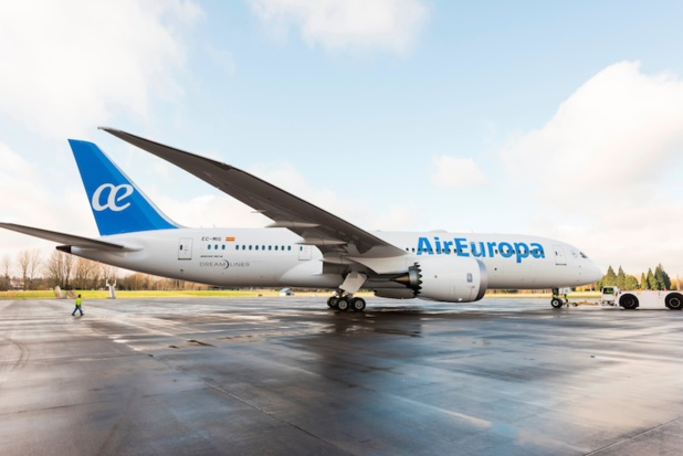 Air Europa a célébré, mercredi 6 avril 2016, l'arrivée à Madrid de son nouveau Boeing Dreamliner 787 - DR