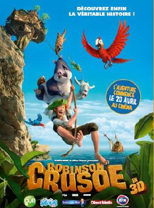 Selectour Afat partenaire du film d'animation Robinson Crusoé