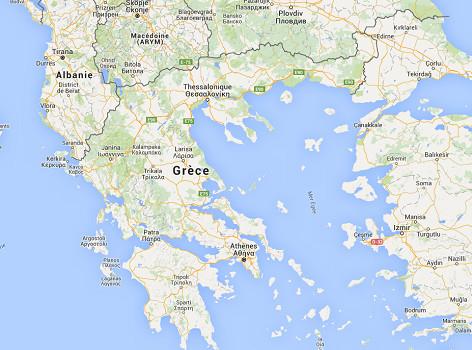 Le trafic aérien est paralysé en Grèce - DR : Google Maps