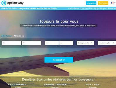 Option Way élargit son offre en intégrant les vols d'easyJet - Capture d'écran