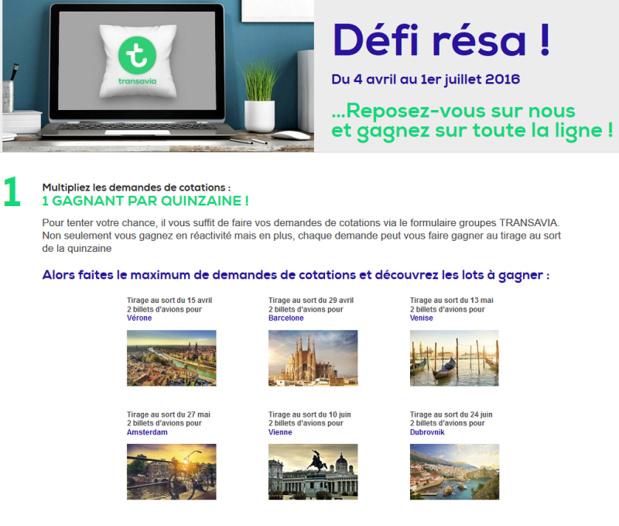 Transavia : Défi résa organisé par Transavia - DR