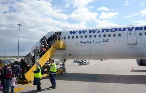 Un vol spécial affrété à Nouvelair, a quitté l'aéroport lyonnais pour embarquer les passagers en souffrance (photo archives)