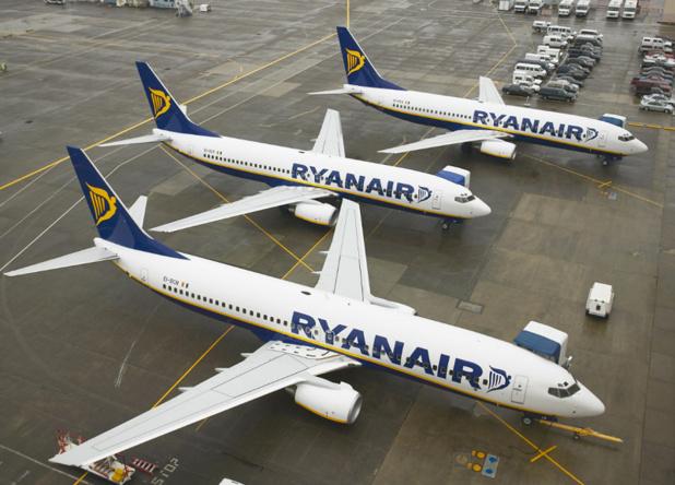 """Ryanair : Michael O'Leary, PDG et Kenny Jacobs, Directeur marketong ont présenté à la presse ce mardi 12 avril 2016, la phase 3 du programme """"Always Getting Better"""". Photo Ryanair"""