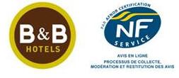 """Avis en ligne : B&B Hôtels décroche la certification """"NF Services"""""""
