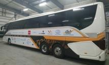 L'autocar de Voyages Internationaux pour la tournée du TourMaG&Co Roadshow du 18 au 22 avril 2016 - Photo DR