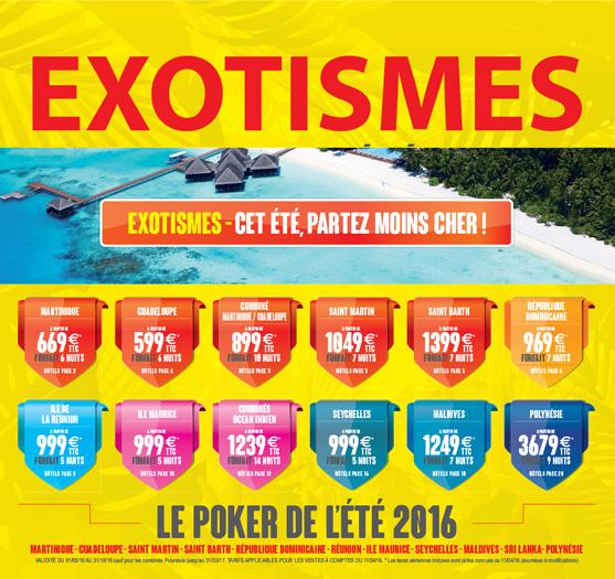 Cet été, partez moins cher avec Exotismes !