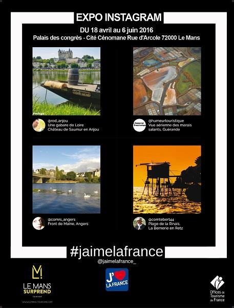 J'aime la France : l'exposition Instagram fait escale au Mans jusqu'au 6 avril 2016
