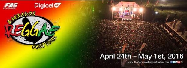 Le Festival de Reggae de La Barbade se déroule du 24 avril au 1er mai 2016 - DR
