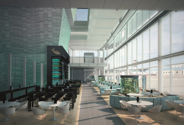 Le nouveau terminal de l'aéroport de Munich. DR