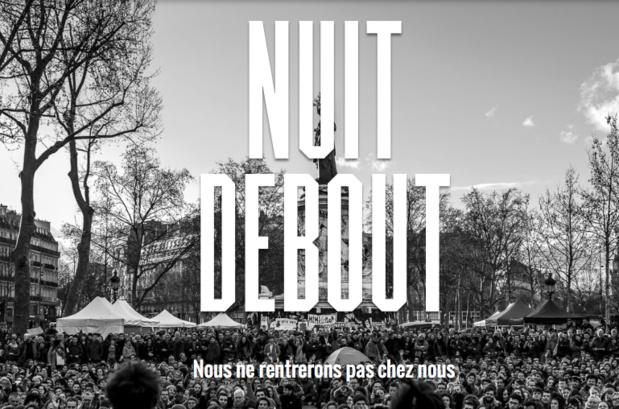 Le monde bouge, la France devrait aussi bouger, malgré les paroles rassurantes de nos gouvernants - Copie écran Nuit Debout