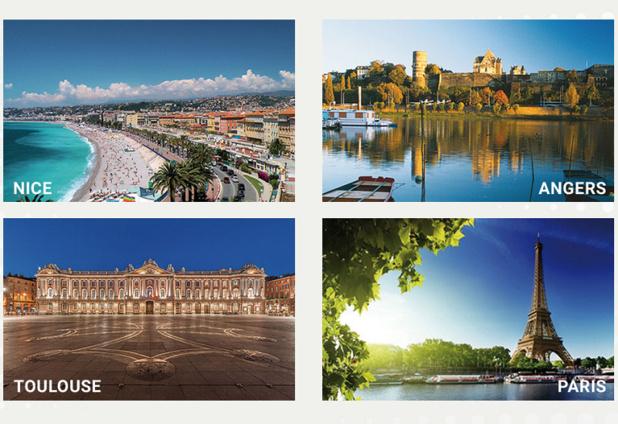 Summer School AsTRES : Du 25 juin au 23 juillet prochains, les 15 candidats élus découvriront quatre régions françaises, à savoir Nice et la Riviera, Toulouse et Midi-Pyrénées, Angers et le Val de Loire, Paris et l'Île-de-France - DR AsTRES