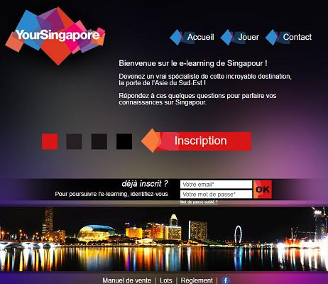 L'e-learning Singapour est toujours en ligne - Capture d'écran