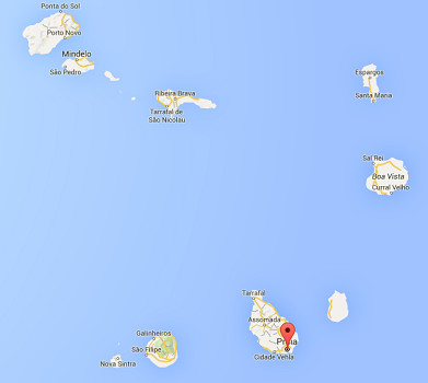 La fusillade a eu lieu près d'un centre de télécommunications au nord de Praia, la capital du Cap-Vert - DR : Google Maps