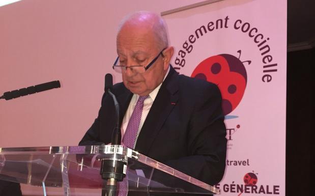 Raoul Nabet, président de l'APST, prend la parole lors de l'AG du 27 avril 2016 - Photo : J.D.L.