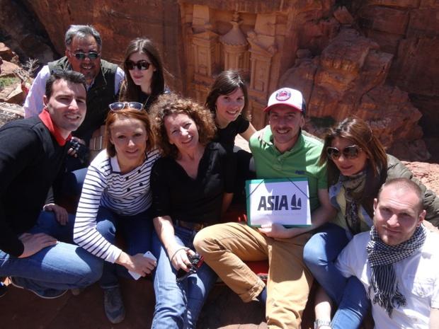 Durant une semaine, toute l'équipe a découvert des lieux emblématiques de la Jordanie - DR : Asia