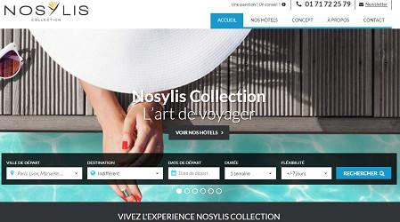 Nosylis Collection propose une expérience de voyage très haut de gamme - Capture d'écran
