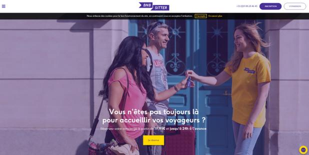Bnbsitter propose un service de conciergerie pour les hôtes de sites de location entre particuliers - Capture d'écran