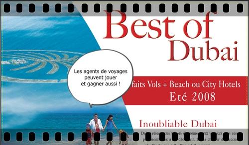 Brochure « Best of Dubai 2008 » et challenge de ventes