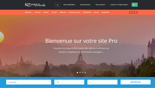 Le site BtoB (c) capture d'écran Rivages du Monde